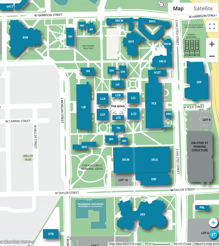 Illinois College Campus Map.Transportation To The University Of Illinois At Chicago Uic