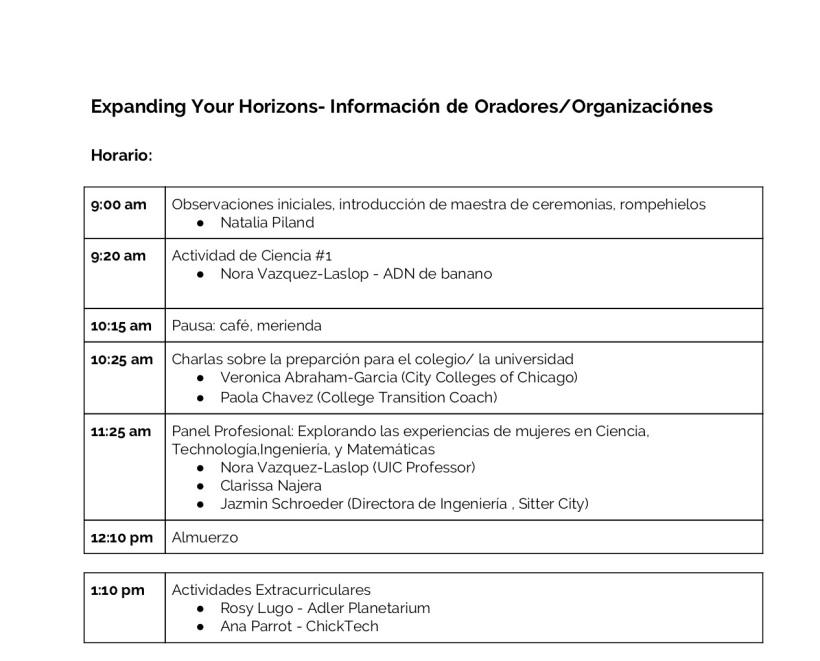 (Spanish) Expanding Your Horizons Speaker_Organization Info 2019