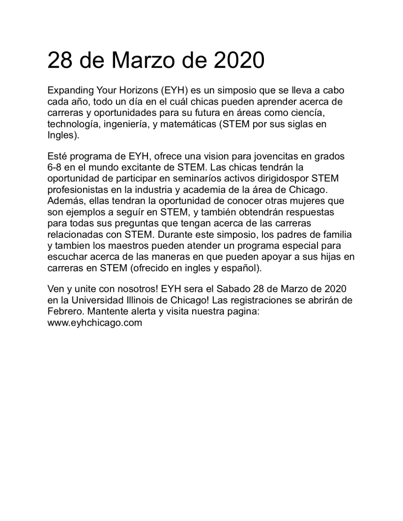 Spanish recruitment flyer text 2020